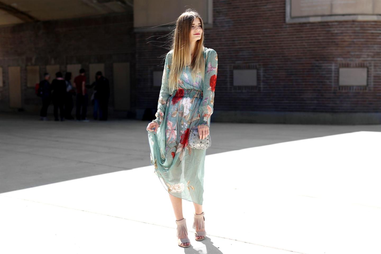 Outfit: Mint Flower Dress