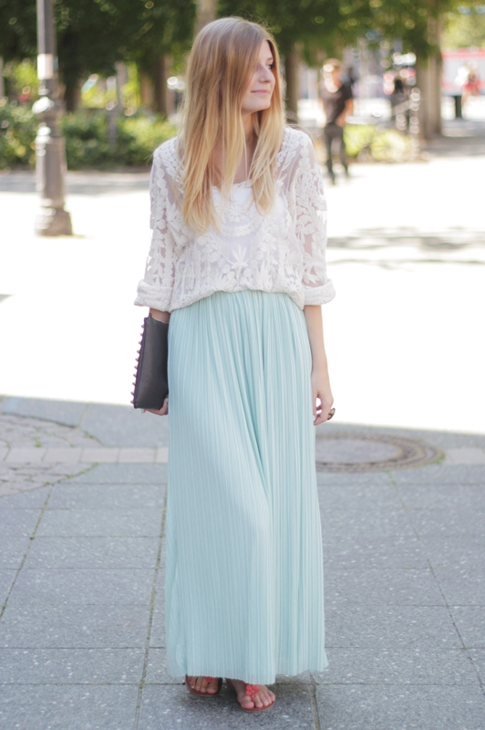 crochet top & maxi skirt