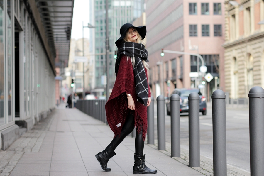 Outfit: Red Poncho