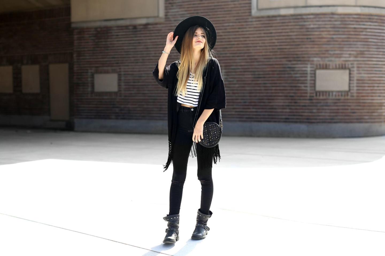 Outfit: Black & White Stripes