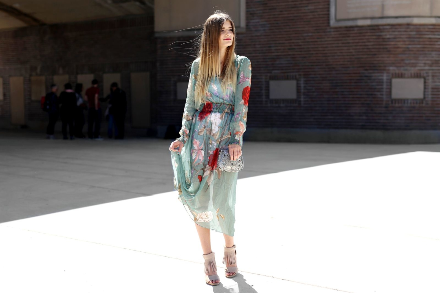 Outfit: Mint Flower Dress