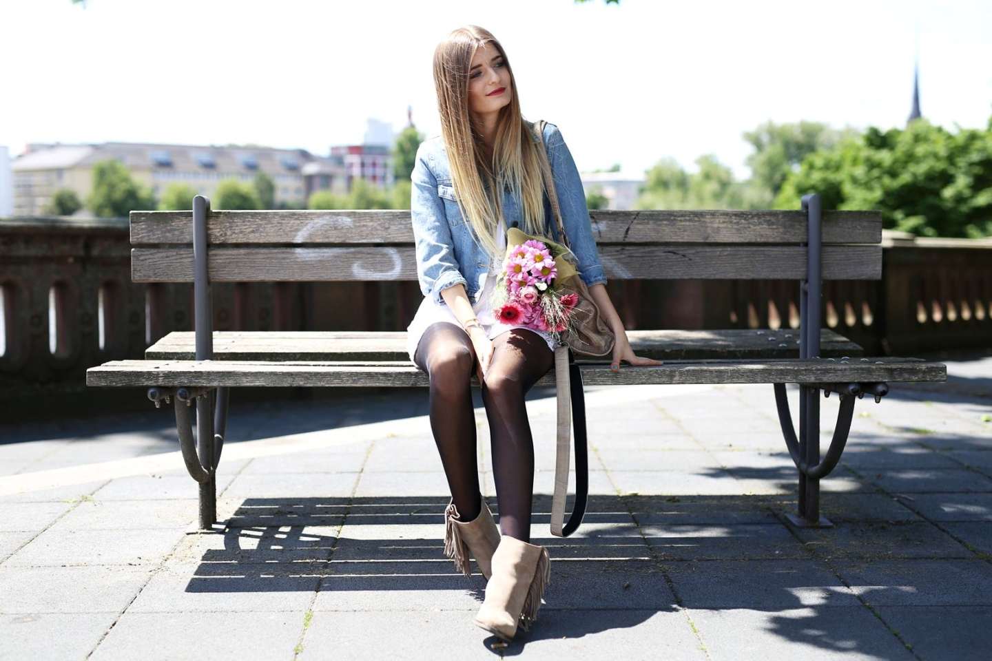 Outfit: Jeansjacke & Jumpsuit